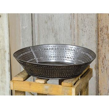 Round Punched Tin Tray