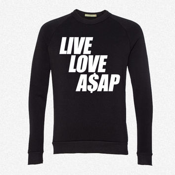Live Love A$APr fleece crewneck sweatshirt