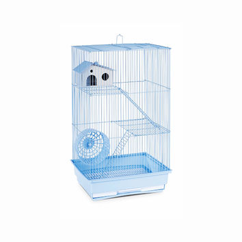 prevue Hendryx Three Story Professional Style Hamster And Gerbil Cage, Color - Lite Blue