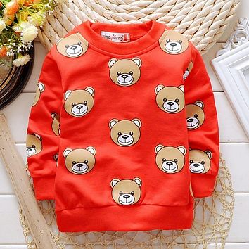 Spring Autumn Boys Girls T-shirts for 1-3Y Baby Children's Clothing Cotton Casual unisex kids Tops Tee Clothes 80-95CM