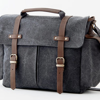 Camera Bag / Messenger Bag / Shoulder Bag / Gray Canvas / TRAIL