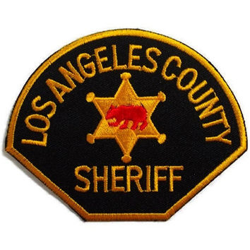 Los Angeles County Sheriff New Iron On Patch Embroidered Applique Size 10cm.x8cm.