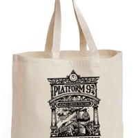 Harry potter Kingscross Platform 9 3/4 Cotton Tote ECO canvas hogwarts Bag | eBay