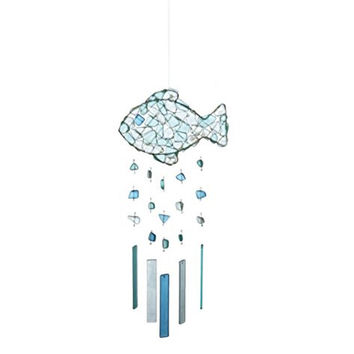 Peaceful Sea Glass Wind Chime (Fish)