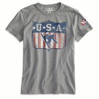 AEO Men's Usa Snowboard T-shirt (Heather Grey)