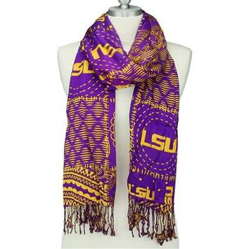 LSU Tigers - Mixed Print Scarf