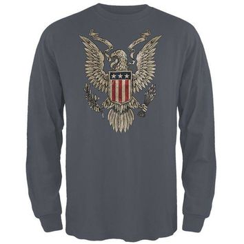 CREYCY8 4th Of July Born Free Vintage American Eagle Mens Long Sleeve T Shirt
