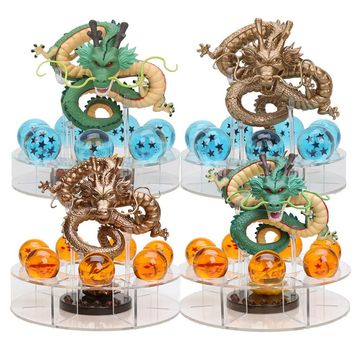 Dragon Ball Z Figurines Shenron Action Figure Shenlong With Dragon Ball Set 7PCS 3.5cm Crystal Dragonballs + Acrylic Shelf
