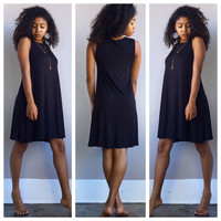 A Sophie Tee Dress in Black