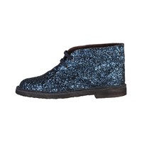 Ana Lublin Blue Laceup Leather Shoes