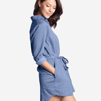 Check out Women's Denim Boyfriend Shirt Dress at Grana