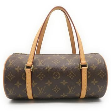 Louis Vuitton Monogram Papillon PM Tote Bag Brown M51386 7211