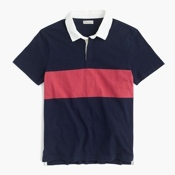 Short-sleeve rugby polo shirt in navy
