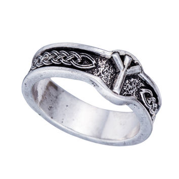 One Piece Punk Style Antique Retro Male Jewelry Viking Ring Female Black Amulet Norse Rune Rings For Women