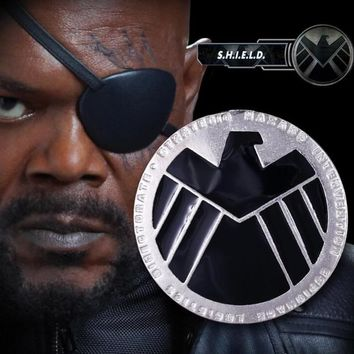 Marvel's The Avengers Brooch Cosplay  S.H.I.E.L.D eagle Badge Costume Metal Prop Accessories