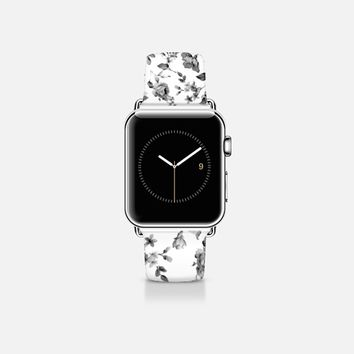 VINTAGE FLOWERS IN WHITE - APPLE WATCH Apple Watch Band (38mm)  by Nika Martinez | Casetify