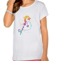 Cute Rainbow Silhouette Heart Moon Key With Locket T-shirt