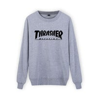 Thrasher Magazine Black Crew Neck Sweatshirt