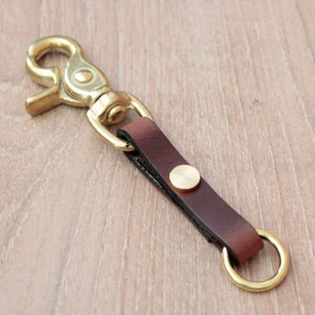 key chain Keychain, Leather Keychain,Keyring,Leather Key fob,keyholder, Keyfob, Keychain (MC-48)
