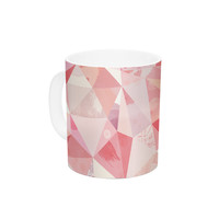"Nic Squirrell ""Crumpled"" Pink,Geometric Ceramic Coffee Mug"