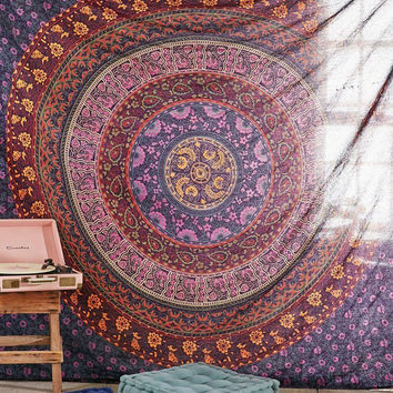 Shopnelo  Home Special Large Hippie Tapestry, Hippy Mandala Bohemian Tapestries, Indian Dorm Decor,Bedroom special, Psychedelic Tapestry Wall Hanging Ethnic Decorative Urban Tapestry (90x90 inches) (Multi Color)