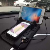 Magnetic Adsorption Non-slip Charging Car Stand