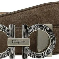 ONETOW Salvatore Ferragamo Men's Adjustable Belt - 679922 Sepia 40