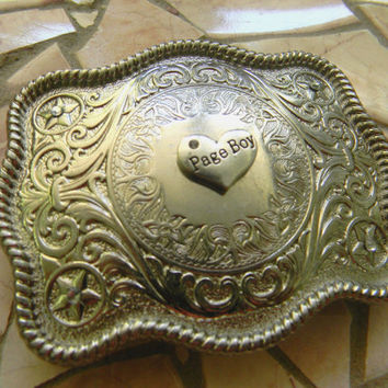 Page Boy Belt, Page Boy Outfit, Western Wedding , Country Wedding Party Gift, Boys Men's Silver Groomsmen Belt Buckle, Wedding Accessories