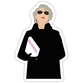 'Miranda Priestly- The Devil Wears Prada' Sticker by thefilmartist