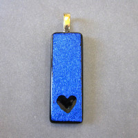 Small Heart Pendant, Heart Love Jewelry - Devotion - 593 -02