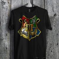Harry Potter Hogwarsts Logo - zzFzz Unisex T- Shirt For Man And Woman / T-Shirt / Custom T-Shirt