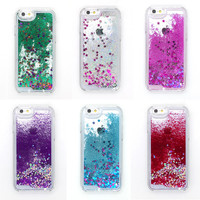 Bling Case for iPhone 5 5s SE Liquid Dynamic Glitter Stars Sequin Quicksand Clear PC Hard Plastic for iPhone 5 5s SE Case
