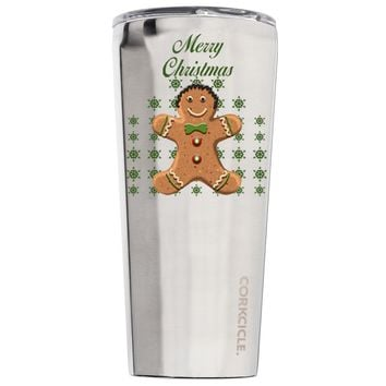 Corkcicle Merry Christmas Gingerbread Man 24 oz Tumbler Cup