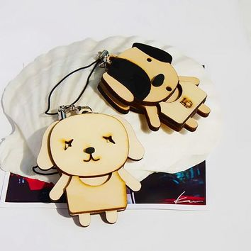 [Wooden Animals - 3] - Cell Phone Charm Strap / Handbags Charms