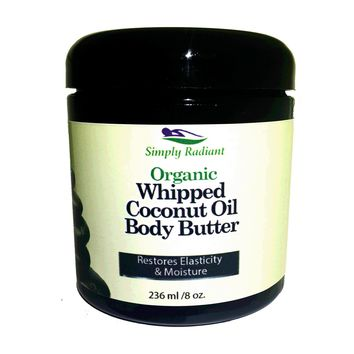 Organic Whipped Coconut Oil Body Butter - Vegan, Paleo, Gluten Free, Cruelty Free