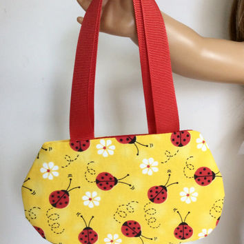 Ladybug Purse, Doll Purse, Yellow Doll Purse for 18 Inch Dolls such as American Girl Dolls