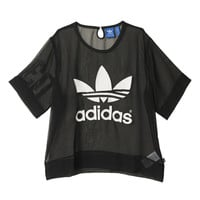 """Adidas"" Fashion Movement Leisure Tulle Perspective Print T-shirt Tops"