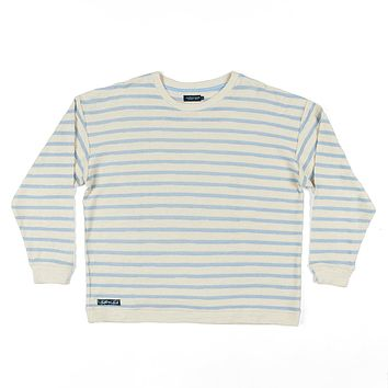 Nautical Stripe Sunday Morning Sweater in French Blue by Southern Marsh