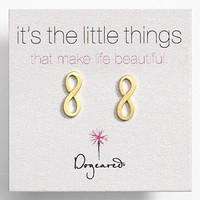 Women's Dogeared 'It's the Little Things' Infinity Symbol Stud Earrings