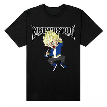 Misunderstood Vegeta Black Tee - Just Restocked