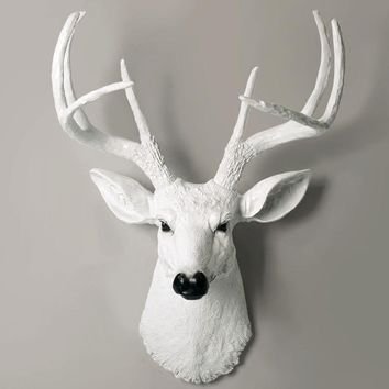 Animal head hanging wall decoration wall murals three-dimensional creative deer retro background wall pendant ornaments decorati