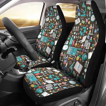 Science Pattern Car Seat Covers