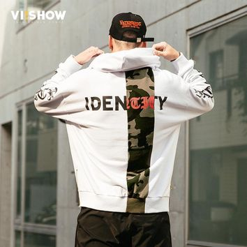 VIISHOW 2017 Brand New Fashion Men Sportswear Print Men Hoodies Pullover Hip Hop Mens Tracksuit Sweatshirts Clothing WD1784173