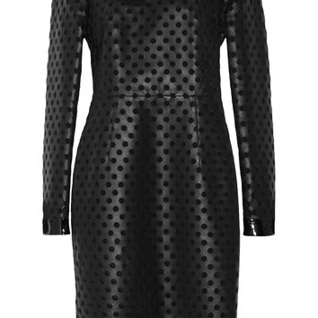 Laser-cut leather and silk-organza dress | TOM FORD | US | THE OUTNET