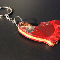 Recycled Skateboard Keychain - Foot