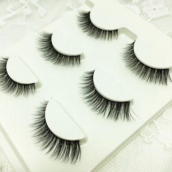 Sexy 100% Handmade 3D mink hair Beauty Thick Long False Mink Eyelashes Fake Eye Lashes Eyelash High Quality Free shipping