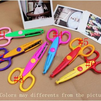 6 designs option Decorative Wave lace Craft Scissors DIY for Scrapbook Kids Artwork 6pcs/lot