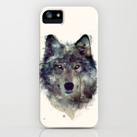 Wolf // Persevere  iPhone Case by Amy Hamilton | Society6