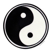 Yin Yang Rub-On Sticker Window Sticker on Sale for $3.99 at HippieShop.com