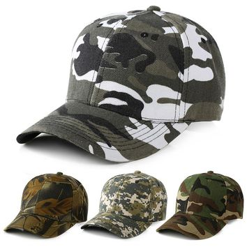 CERU001 New Casual Cotton Adjustable Men's Outdoor Baseball Cap Women Army Green Camo Camouflage Tactic Hat Casquette Gorros
